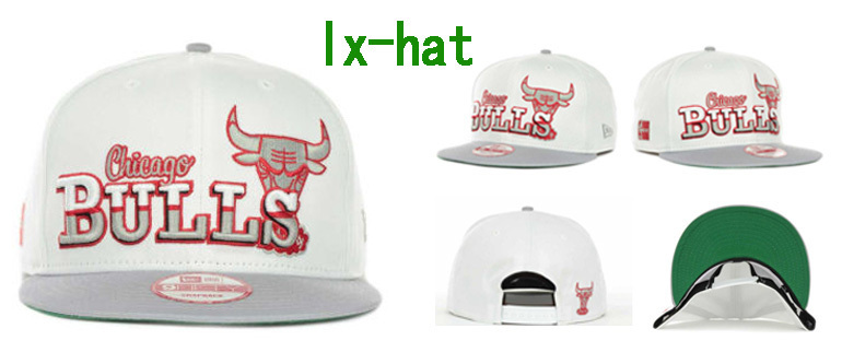Chicago Bulls White Snapback Hat GF